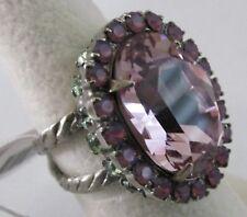 Sorrelli African Violet Ring RBT68ASAFV antique silver tone