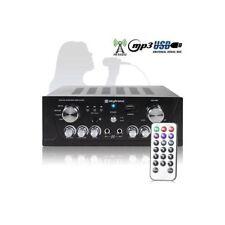 AMPLIFICATORE KARAOKE 400W STEREO USB SD RADIO TELECOMANDO ART 103134