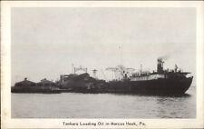 Marcus Hook PA Oil Tankers Postcard