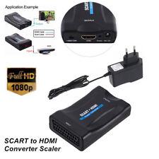 SCART to HDMI Audio Video Converter Scaler Box w/ EU plug HDTV HD Monitor Superb