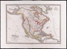 1841 - Carte ancienne Amérique septentrionale / Antique map of North America