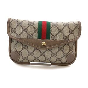Gucci Cosmetic Pouch Bag  Browns PVC 1535250