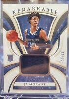 2019-20 Immaculate Ja Morant RC Patch /99 REMARKABLE Memphis Grizzlies 🔥🔥📈📈