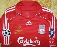 Gerrard 8 Champions League Final Athens 2007 Liverpool home shirt size L jersey