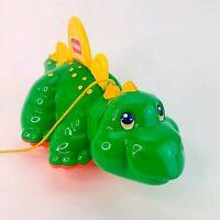 Vintage 1993 Hasbro Pull Along Dinosaur Stegosaurus Playskool VGC