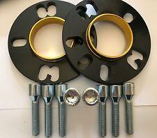 Espaciador De La Rueda de Aleación Negro 10 Mm x 2 + 8 X M12x1.25 Sintonizador Pernos se adapta a Peugeot 1 65.1