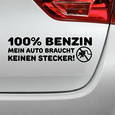 Auto Aufkleber 100% Benzin Tuning Spruch sticker