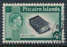 1940-1951 PITCAIRN ISLAND 4d BLACK & EMERALD GREEN FINE USED SG5b our ref B