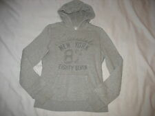 Aeropostale Hoodie Sweatshirt Sz M Medium Gray Long Sleeve Juniors Womens