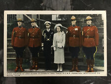Mint Canada PPC Postcard RCMP  Mounted Police King George 6 Queen Elizabeth 2