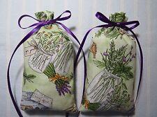 """Green 5""""X2"""" Sachet-'Lavender Rose' Fragrance-Handmade-Cindy& #039;s Loft-312"""