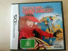 DS 2DS 3DS Nintendo original game Where In The World Is Carmen Sandiego WORKING