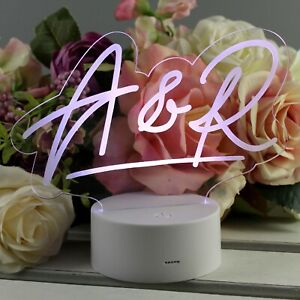 Personalised Name LED Colour Changing Desk Night Light Personalised with A Name