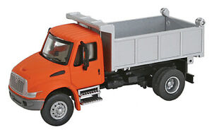 Walthers HO Scale International 4300 Single-Axle Dump Truck Orange Cab/Silver