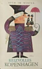 DENMARK FURNITURE Danmark Dansk Retro HQ Print A3 A6 Vintage Travel Poster