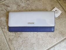 Coach Soft Wallet in colorblock mixed leather (Silver / Soap Stone Multicolor)