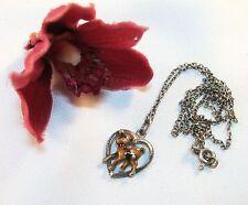 Rehkitz Smalto Cuore Ciondolo Bambi piccolo cerbiatta daglii charms argento 835 Emaile/al 242