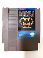 Batman The Video Game ORIGINAL NINTENDO NES GAME Tested WORKING Authentic
