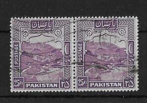 Pakistan 1954 25R Kyber Pass SG43b Perf 13 Fine Used Cat£96