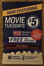 "Wehrenberg Movie Theatres 11""'x 17"" Advertising Movie Poster Neat Home Display"
