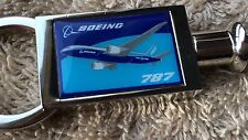 Boeing 787 Keychain Plane Airplane Flight Fly Jet Aviation Travel Gift Valet