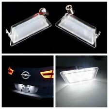 2 x LED Licence Number Plate Light Vauxhall Opel 1998-04 Astra G MK4 HB 1998-04