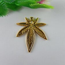 50 Gold Plated Brass 12x12mm Maple Leaf Charms