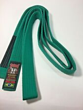 "Shiroi Martial Arts Green Belt 100""L x 1.5"" W Cotton Over PolyBlend Stitched"