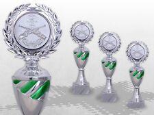 3er Pokale Pokalserie TOP SILVER GREEN mit Gravur günstig kaufen TOP ANGEBOT
