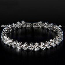 Crystal tennis bracelet Bangle Rhinestone Unusual Rare Gift For her Girl Women