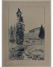 Walter Lilie: Bei Lahs - Signierte Orig. Lithographie von 1921 - Handdruck