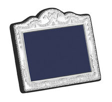 "SOLID SILVER PHOTO / PHOTOGRAPH FRAME (Swag & Bow) 2.5 X 3.5"" by Carr's (Ornate)"