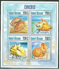 GUINEA BISSAU 2014 SEA SHELLS SHEET OF FOUR STAMPS