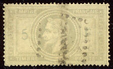 FRANCE #37 Used - 1869 5fr Gray Lilac