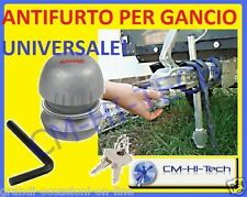ANTIFURTO PER GIUNTO A SFERA !! X RIMORCHIO AUTO FURGONE CARRELLO BARCHE GOMMONI