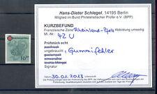 Rheinland - Pfalz 42 U (ungezähnt), Befund Schlegel BPP