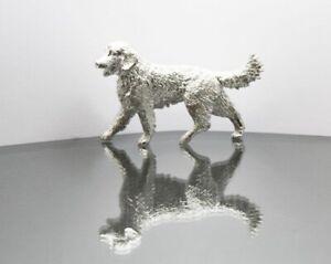 Solid Sterling Silver Retriever Labrador Dog Figurine