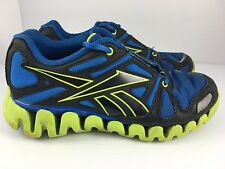 Reebok Zigtech Zigdynamic Kids Sneakers Blue Black Green Size 5