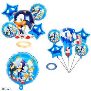 Sonic Aluminum Film Balloons The Hedgehog Happy Birthday Party Decoration Decors