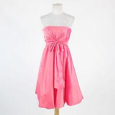 Bright pink DE LARU strapless knee-length empire waist bubble dress 5 6