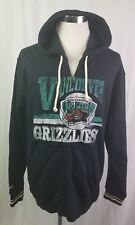 NWT Mitchell & Ness Nostalgia Co. Vancouver Grizzlies Black Hoodie Jacket 2XL