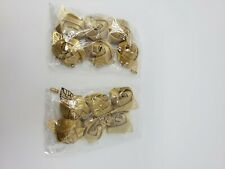 NEW WEDDING SILK ROSE BOUTONNIERES 3.5cm GOLD PIN ON for WEDDINGS or PROMS 12-PK