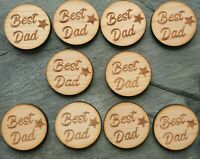 10 x father best dad father's Day Tag token laser engraved pocket isolation hug
