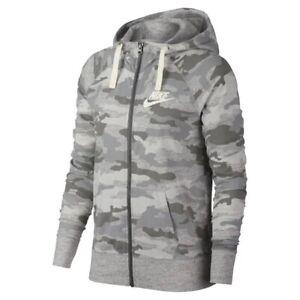 Nike Camo Full Zip Jacket Hoodie Size Xl Womens