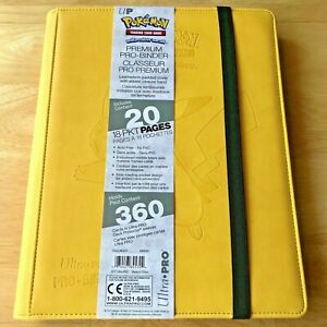 ULTRA PRO Pikachu PREMIUM Pro-Binder - Leatherette (Holds 360 Cards) Pokemon!