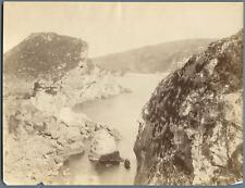 Grèce, Corfou Vintage albumen print.  Tirage albuminé  20x25  Circa 1880