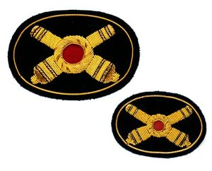Artillery Insignias Hat + Kepi, Wire Bullion embroidered, New