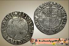 GB. - Elizabeth I Shilling 1584-1586 MM. Escallop .... Vg/F