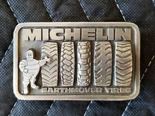 Vintage Michelin Earthmover Tires Belt Buckle - The Great American Buckle Co.
