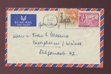 GOLD COAST MACHINE CANCEL SLOGAN BLIND NEED HELP 1956 AIRMAIL to GERMANY 1/3
